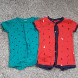 Bundle 2 Baby Boys Shorts Rompers